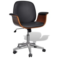 Adjustable Swivel Office Chair Artificial Leather | www ...