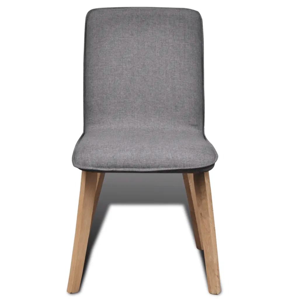 grey fabric oak dining chairs tray for chair set of 2 dark gray indoor vidaxl