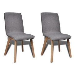 Dark Gray Chair Cheap Camping Chairs Set Of 2 Fabric Oak Dining Indoor Vidaxl