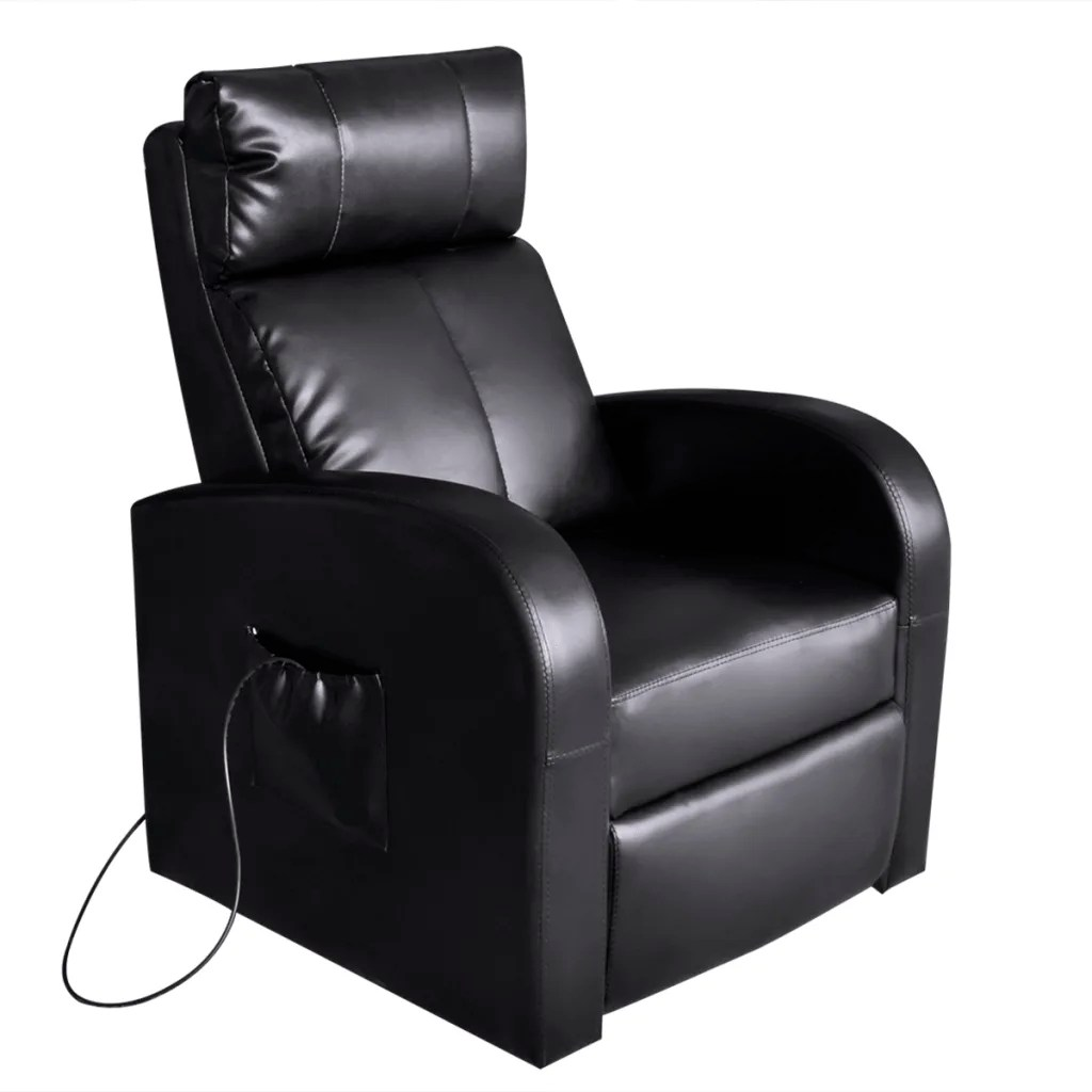 Message Chair Black Electric Massage Chair With Remote Control Vidaxl