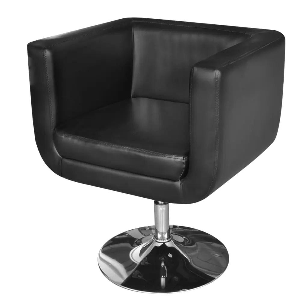 Black Adjustable Arm Chair with Chrome Base  vidaXLcom