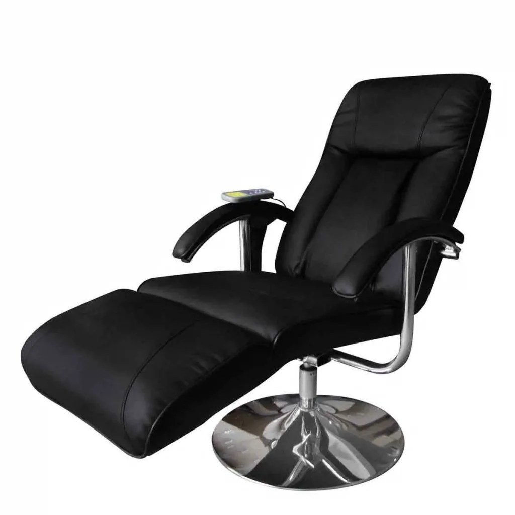 Tv Chairs Black Electric Tv Recliner Massage Chair Vidaxl