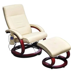 Recliner Massage Chair Yoga Stretches For Seniors Cream White Electric Tv With