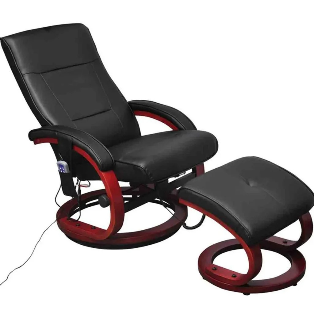 Tv Chairs Black Electric Tv Recliner Massage Chair With Footstool