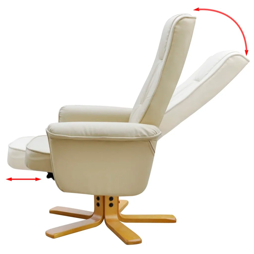 Tv Chairs Cream White Tv Armchair Recliner Artificial Leather With