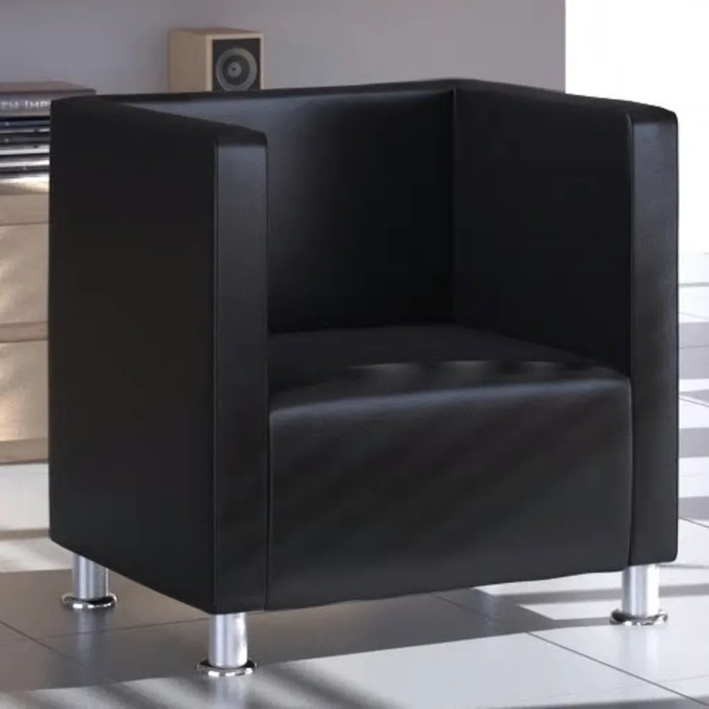 modern armchair design chair covers and sashes hampshire black artificial leather club tub