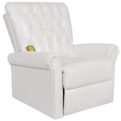 Recliner Massage Chair Round Banquet Covers White Electric Artificial Leather