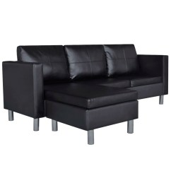 3 Seater Black Leather Sofa Cover Maker Cavite L Shaped Artificial Sectional