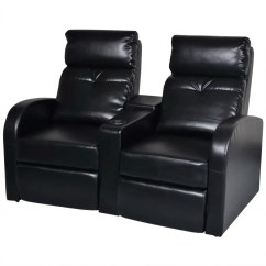 Recliner 2 Seater Sofas Leather Cleo Sofa Loafer Artificial Home Cinema Reclining