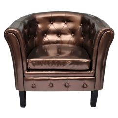 Tub Chair Brown Leather Navy Ready Room For Sale Artificial Armchairs Vidaxl