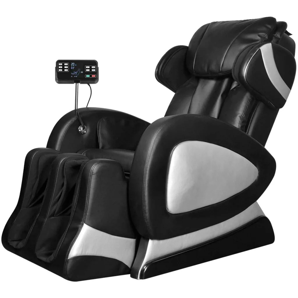 black massage chair leather computer chairs electric artificial with super