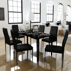 Dining Table Set 6 Chairs Target Card And Black 43 1 Contemporary Design