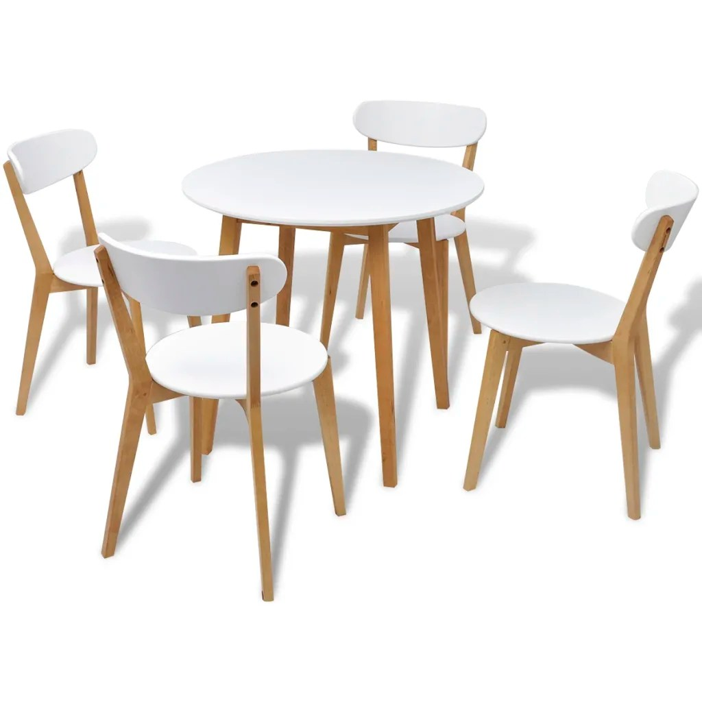 Small Round Table And Chairs Small Round Table And 4 Chairs Birch Wood Bistro Coffee