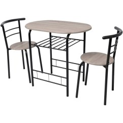Bistro Chairs Dining Room Vintage Club Breakfast Bar Table And 2 Stools Set
