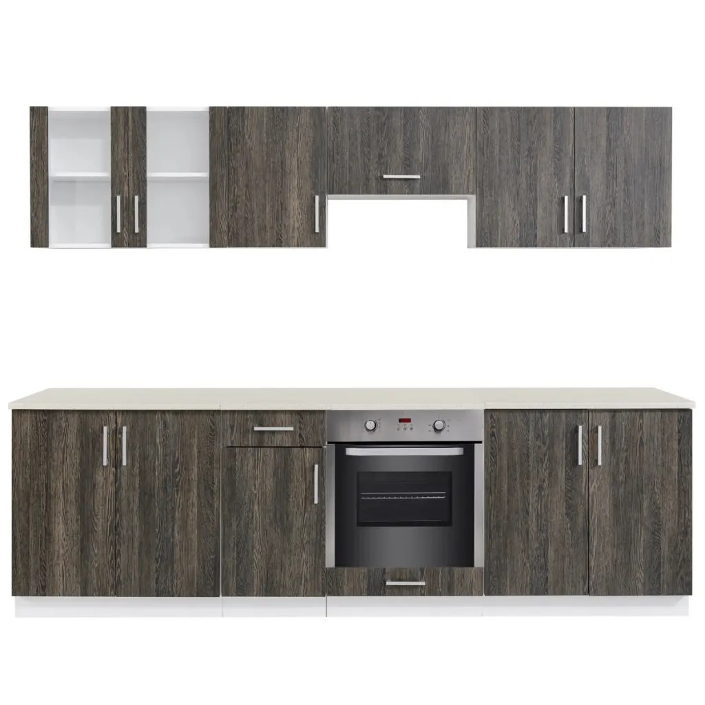kitchen cabinet unit white island with seating vidaxl co uk wenge look built