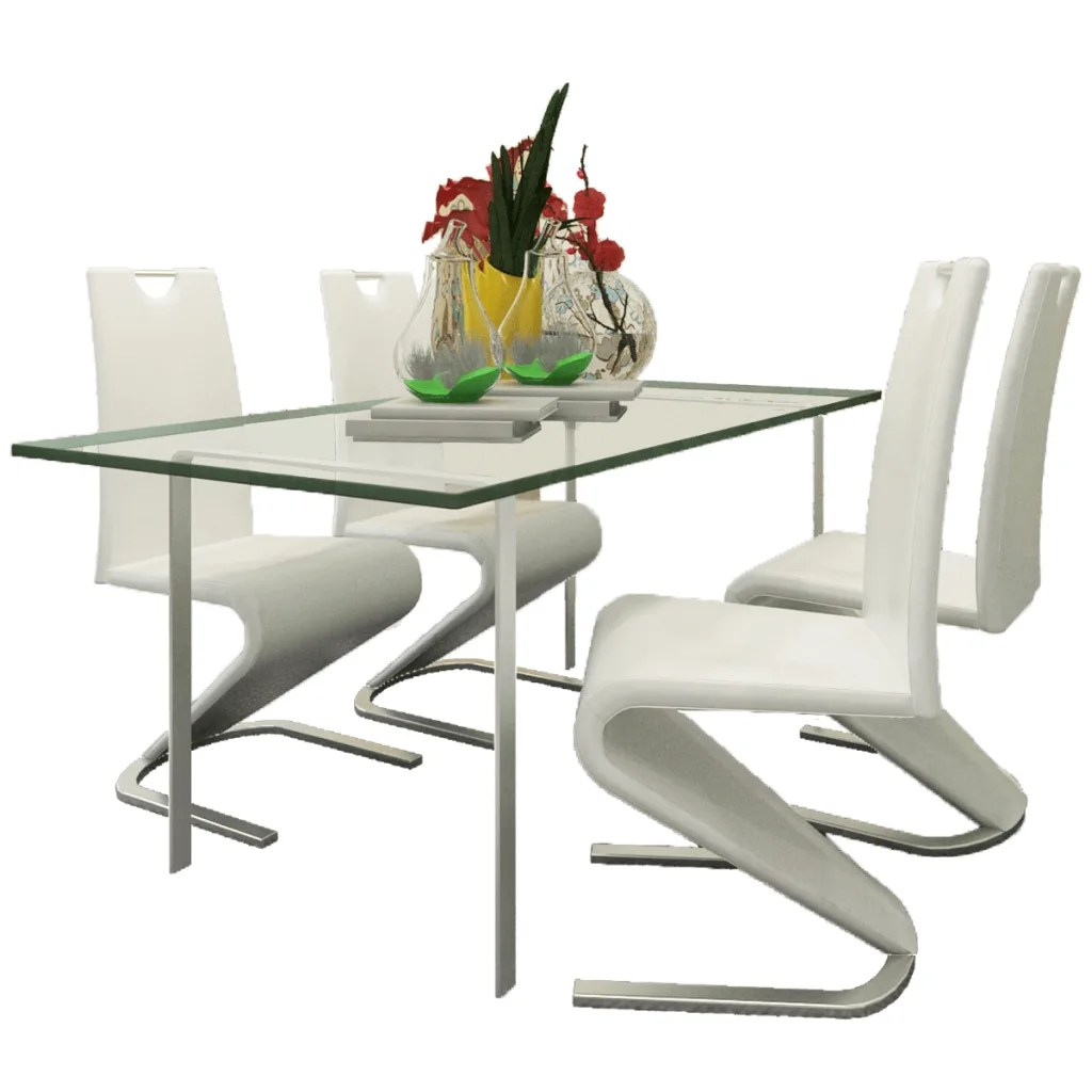 u shaped chair arrangement unusual high back white artificial leather cantilever with
