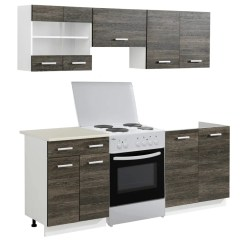Kitchen Cabinet Unit Do It Yourself Cabinets Vidaxl Co Uk Wenge Look 5 Pcs With
