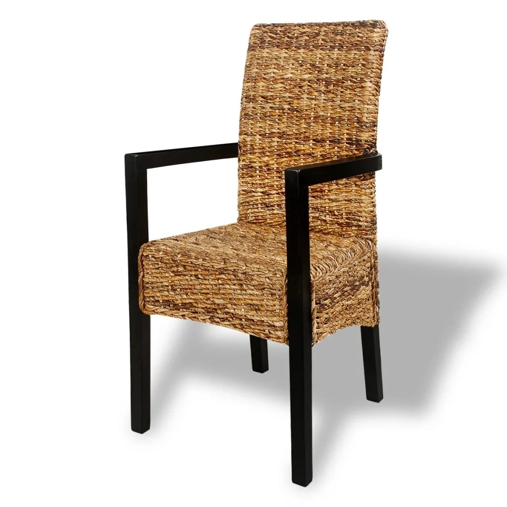 dining chair with armrest pictures of chairs on the beach vidaxl co uk 4 pcs handwoven abaca set