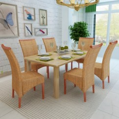 Woven Dining Chair Covers In Johannesburg Vidaxl Co Uk Set Of 6 Handwoven Rattan With