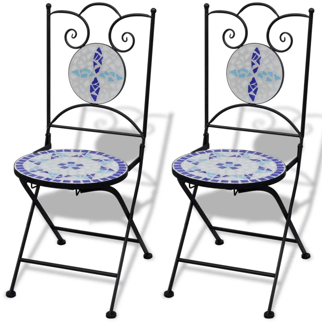 blue bistro chairs pottery barn windsor chair vidaxl co uk mosaic table 60 cm with 2