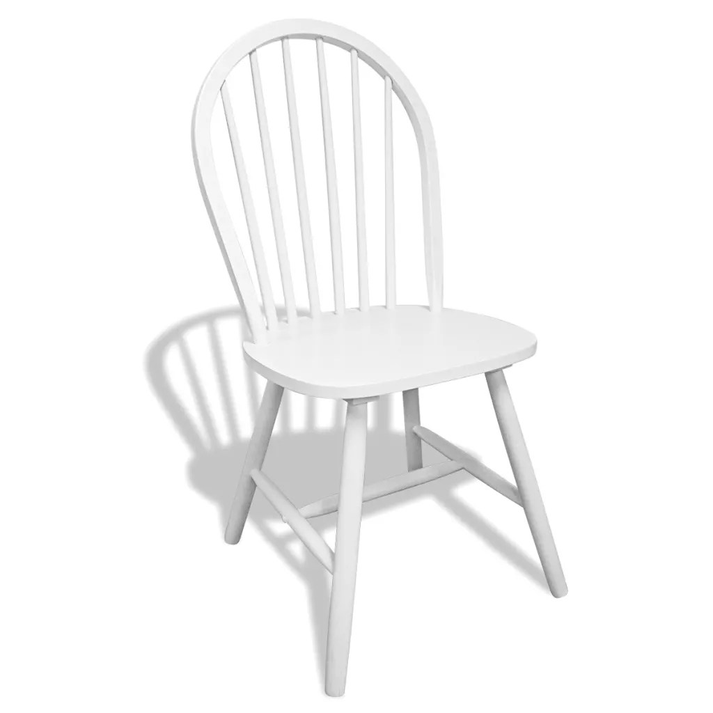 round wooden chair next day office chairs vidaxl co uk 6 dining white