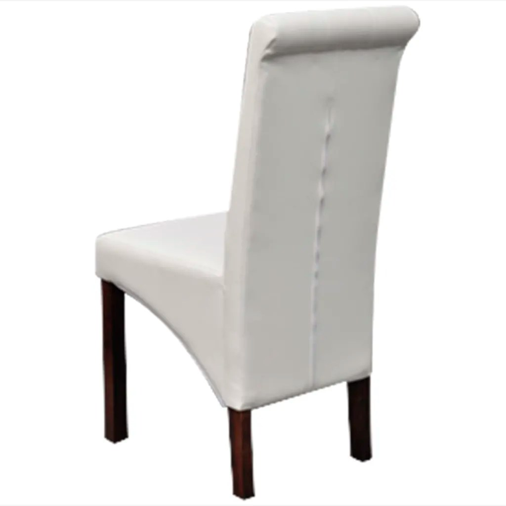white wooden dining chairs deck lounge 4 scroll back artificial leather