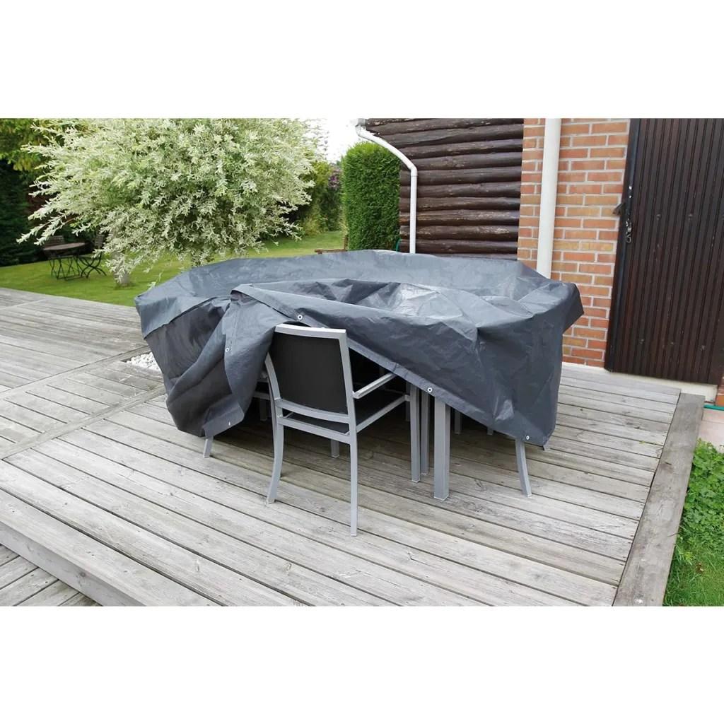 gray patio chair covers dental nature garden furniture cover 90 x 325 cm pe dark grey