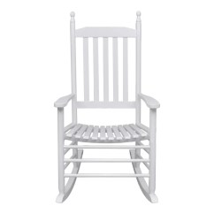 White Wood Rocking Chair Christmas Wedding Covers Vidaxl Co Uk Curved Seat