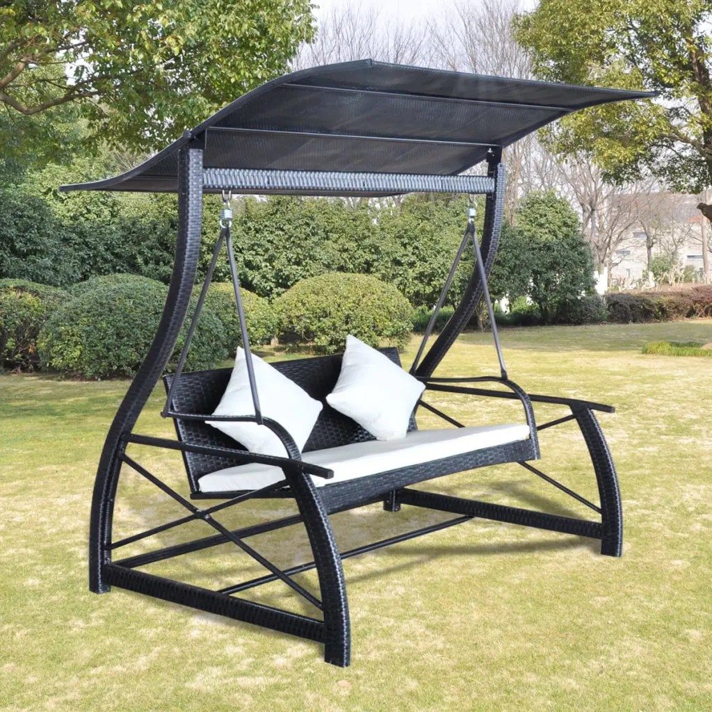 swing chair range distressed leather dining chairs uk outdoor hanging with roof black rattan www
