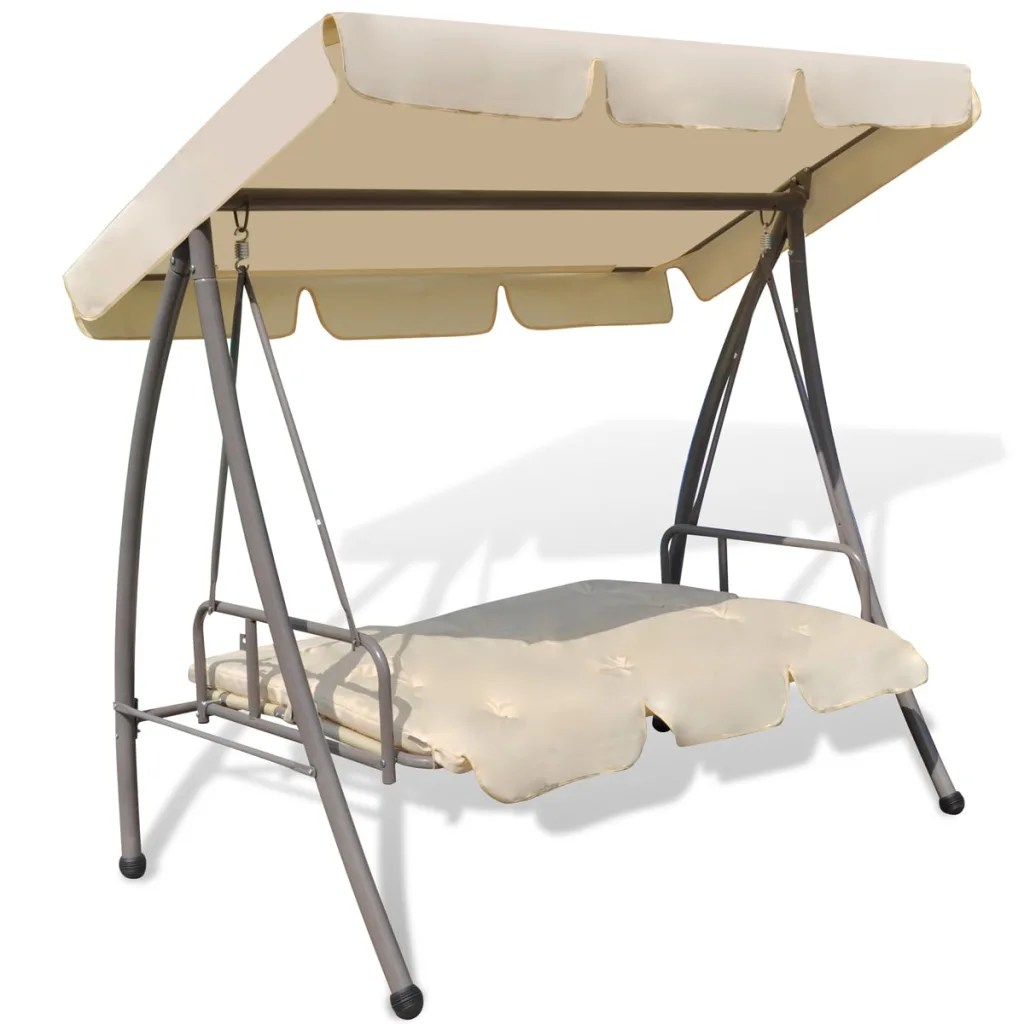canopy chairs best price gci chair accessories outdoor swing bed with sand white vidaxl