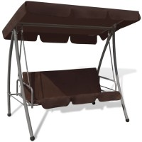 Outdoor Swing Chair / Bed with Canopy Coffee | vidaXL.com