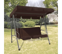 Outdoor Swing Chair / Bed with Canopy Coffee | www.vidaxl ...