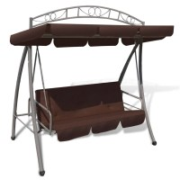 Outdoor Swing Chair / Bed Canopy Patterned Arch Coffee ...