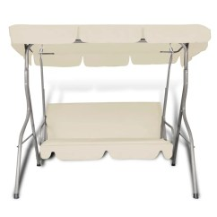 Swing Chair Range Outdoor Chairs For Sporting Events Hanging With A Canopy Sand White 3