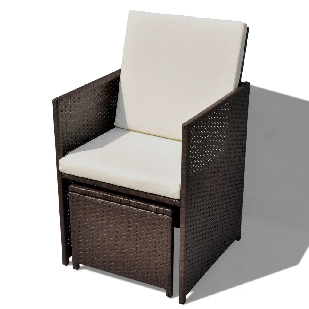 2 chairs and table rattan chair cover rental sioux city vidaxl co uk brown poly dinning set