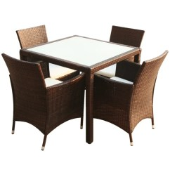 Rattan Table And Chairs Best Reading Chair Australia Vidaxl Co Uk Brown Poly Garden Furniture