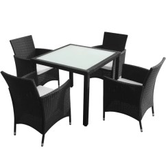 Rattan Garden Chairs And Table Tables Melbourne Vidaxl Co Uk Black Poly Furniture