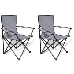 Folding Chair Set Grosfillex Chaise Lounge Chairs Vidaxl Co Uk 2 Pcs Camping Outdoor