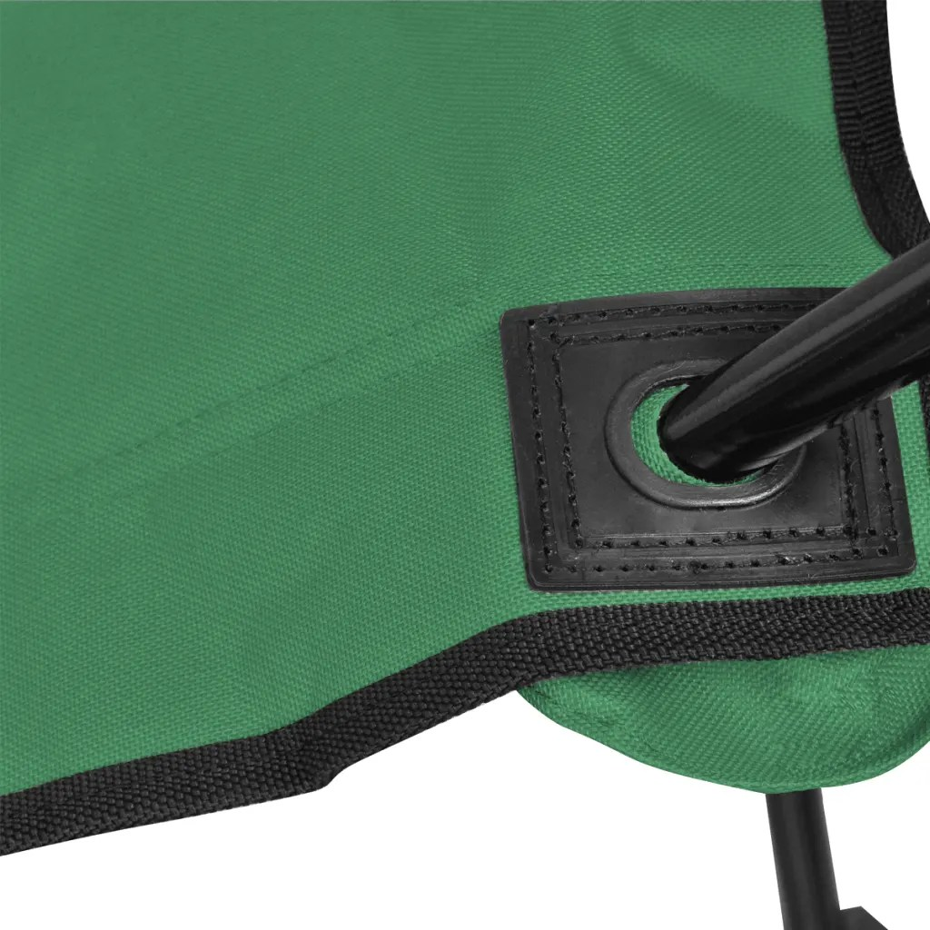 folding chair green 60 minutes in exercises for seniors set 2 pcs camping outdoor chairs with bag