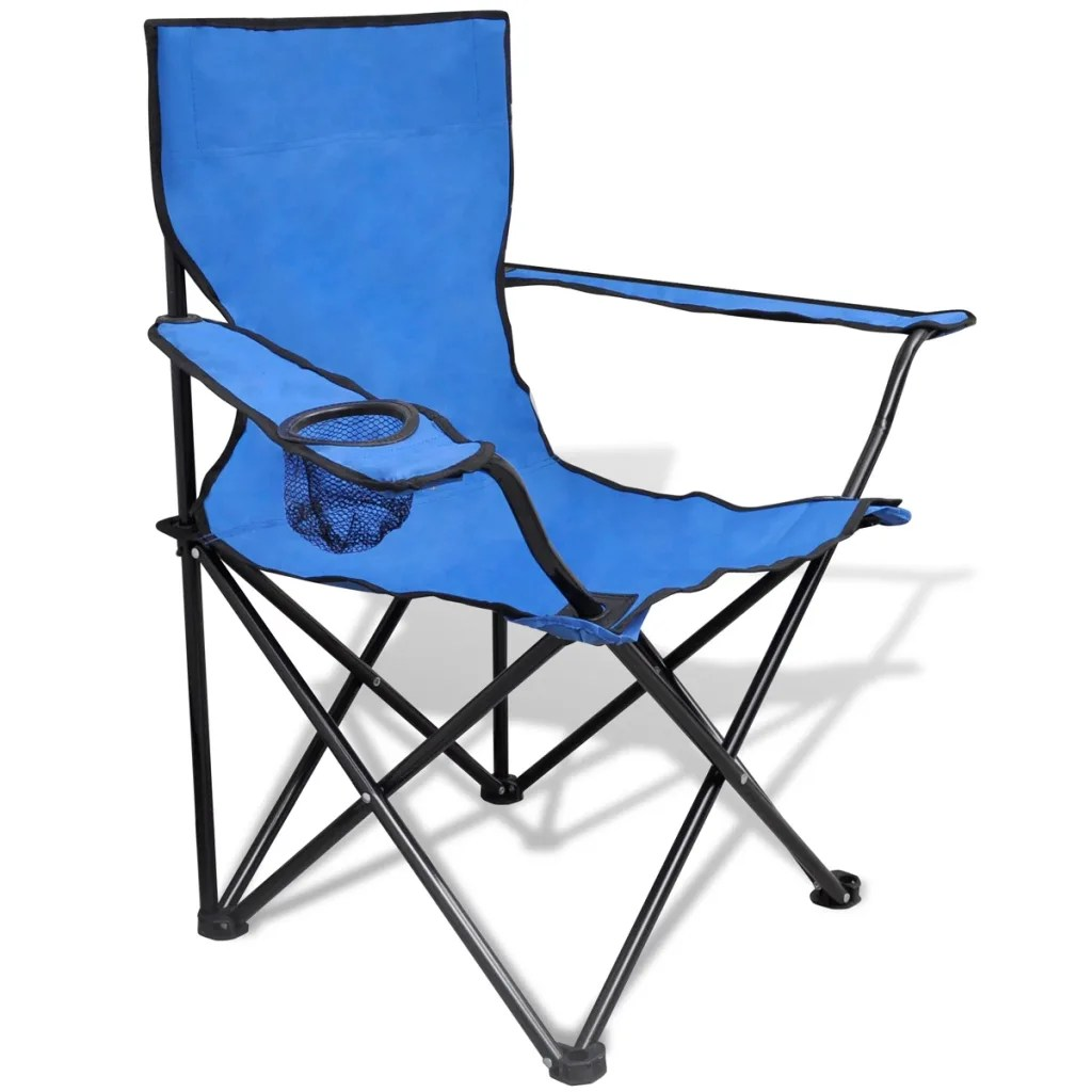 Folding Chair Set 2 pcs Camping Outdoor Chairs with Bag