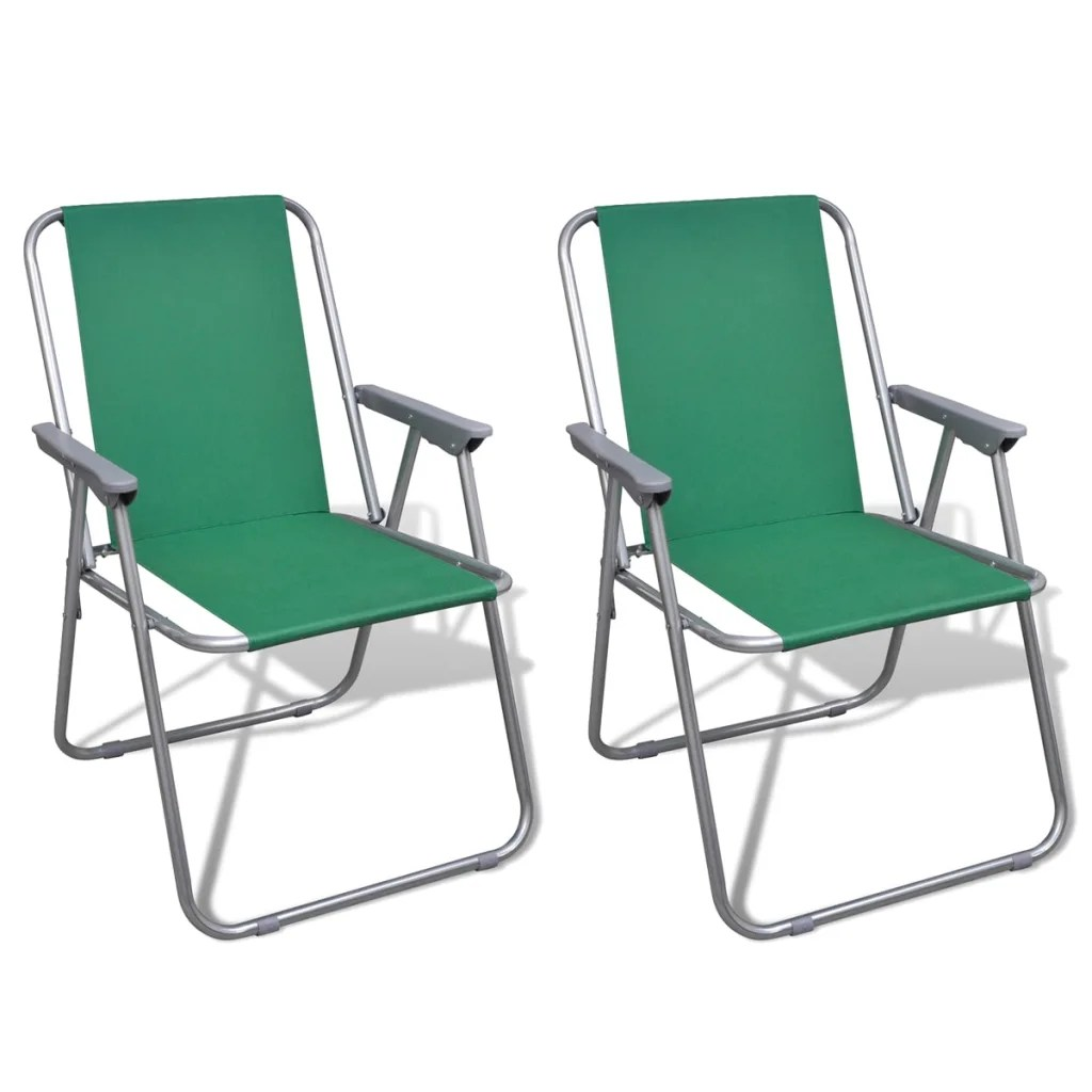 two seat lawn chairs egg chair on stand vidaxl co uk folding set 2 pcs camping outdoor