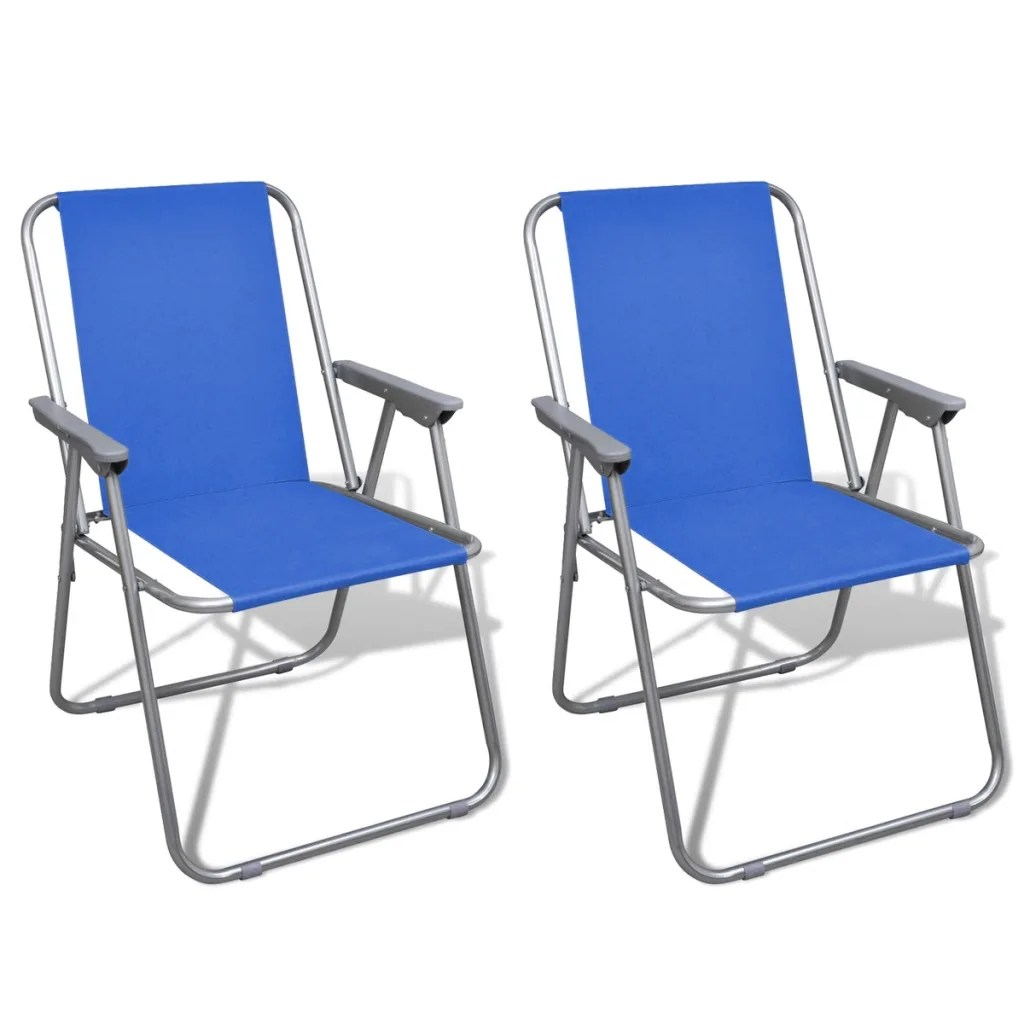 Outdoor Chair Set Vidaxl Co Uk Folding Chair Set 2 Pcs Camping Outdoor