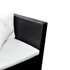 Rattan 2 Seater Sofa Cover Cama Promart Black Poly Lounge Set With Two Seat Vidaxl