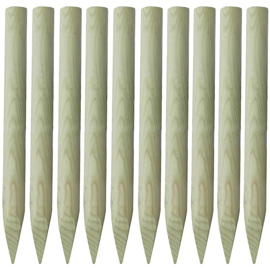 10x 6x Holz Rundholz Zaunpfahl Zaunpfosten Kiefer