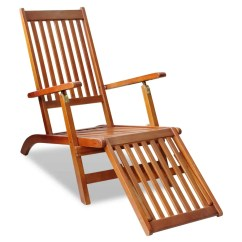 Outdoor Folding Chair With Footrest Gold Covers Ebay Vidaxl Co Uk Deck Acacia Wood