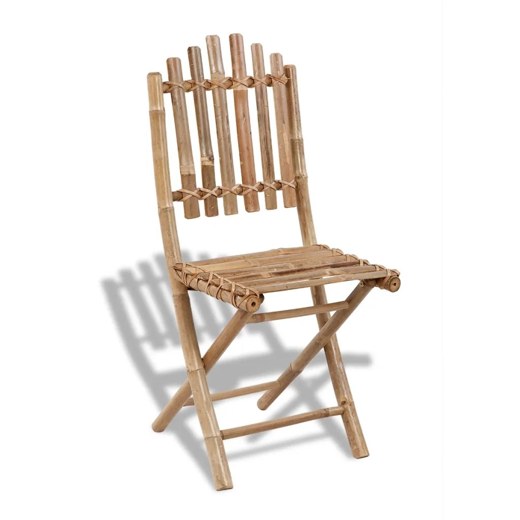 bamboo outdoor chairs baby travel chair vidaxl co uk foldable dining set 1