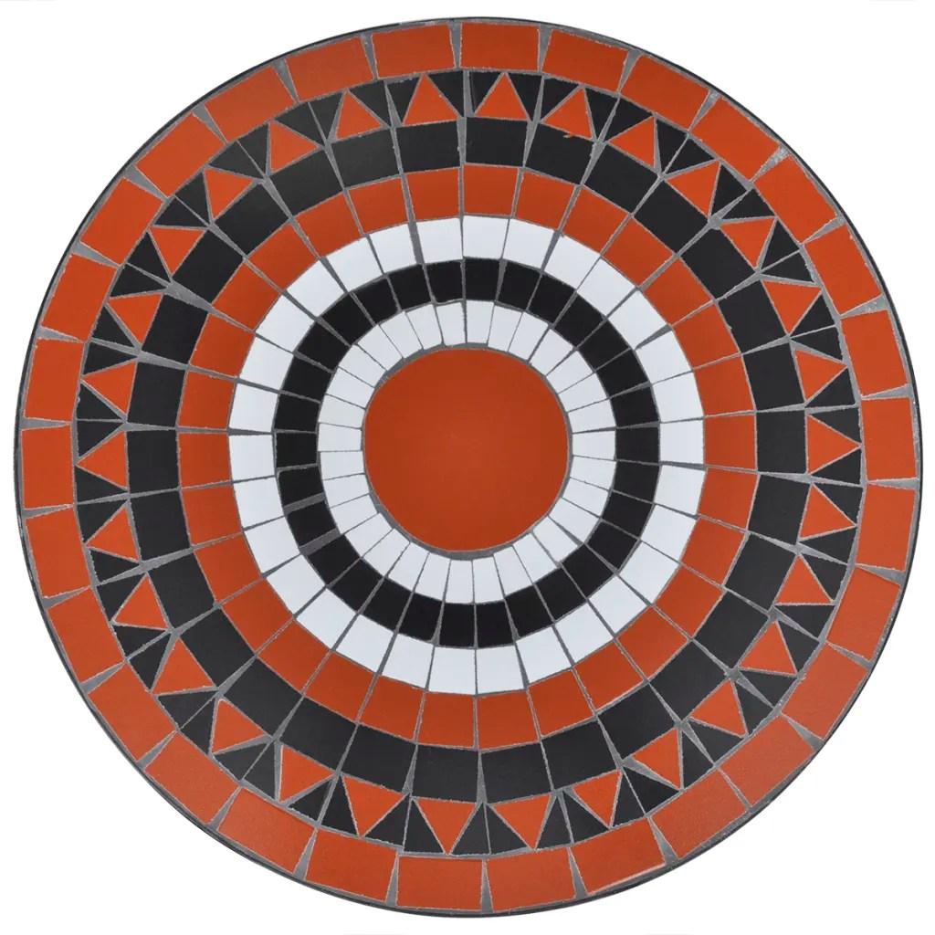 vidaXLcouk  Mosaic Table 60 cm Terracotta  White