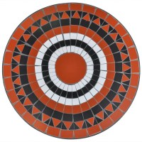 vidaXL.co.uk | Mosaic Table 60 cm Terracotta / White