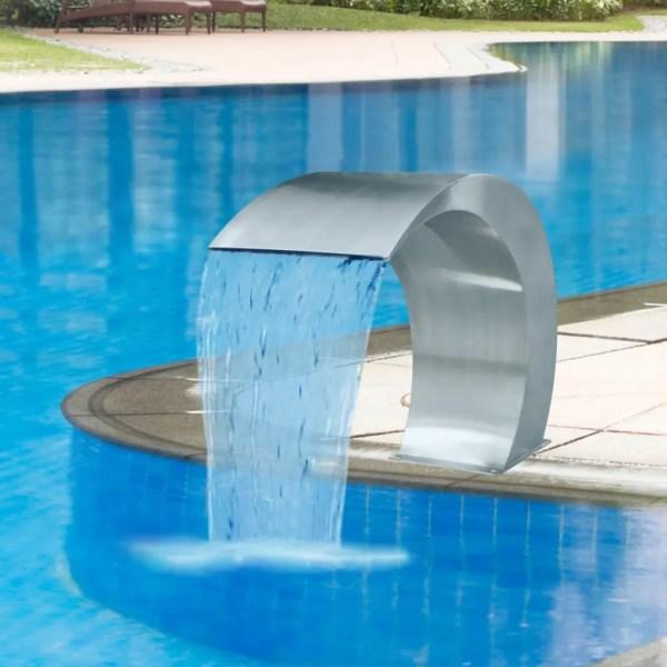 "Garden Waterfall Pool Fountain Stainless Steel 17.7"" X 11"