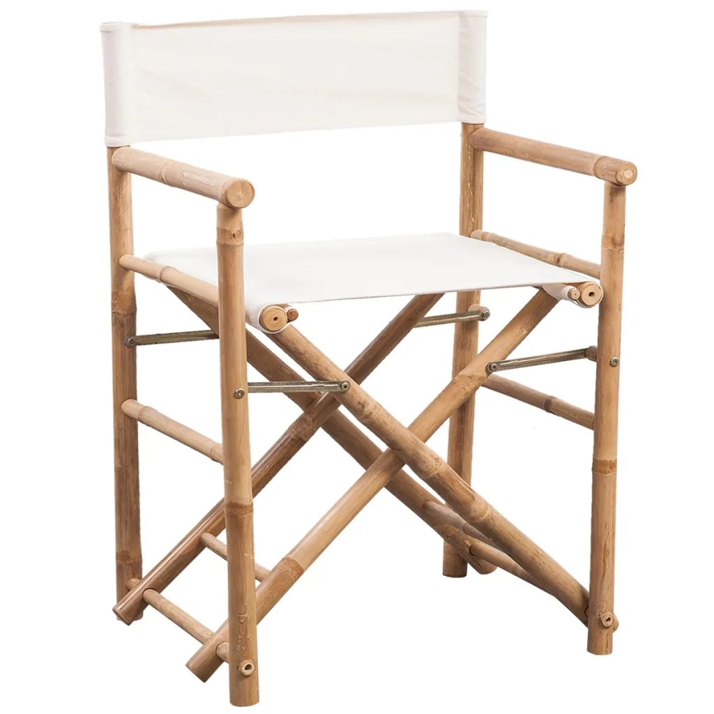 bamboo directors chairs dining room chair seat covers amazon vidaxl co uk folding director 39s and